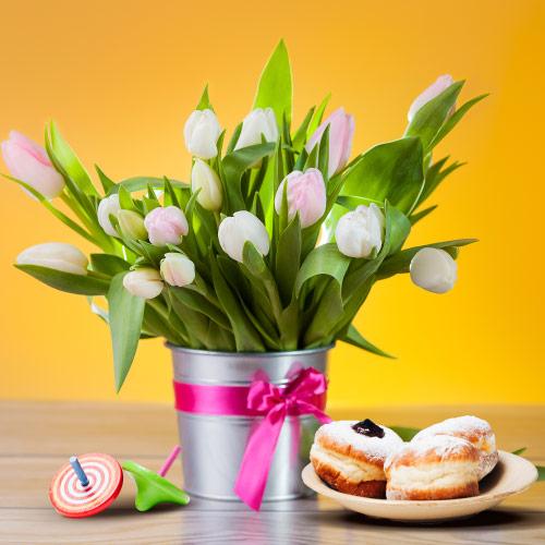 משלוח פרחים לחג חנוכה