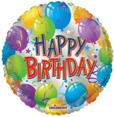 בלון יום הולדת שמח צבעוני